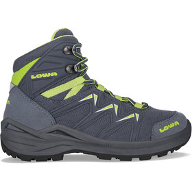 Lowa Innox Pro GTX Mid Shoes Kids, steel blue/lime